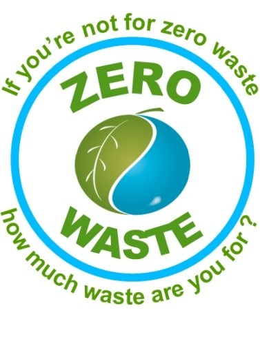 Zero waste logo - if you're not for zero waste, how much waste are you for?